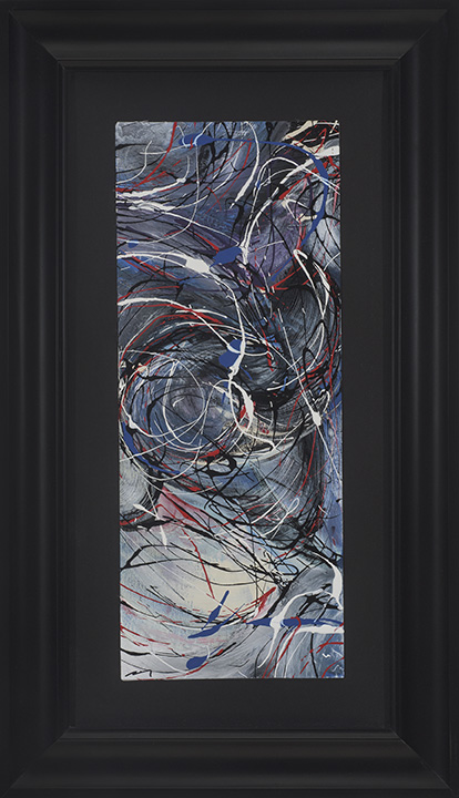 Title:American Chaos Medium:	Arcylic Size:	28.5Hx16.5Wx1in