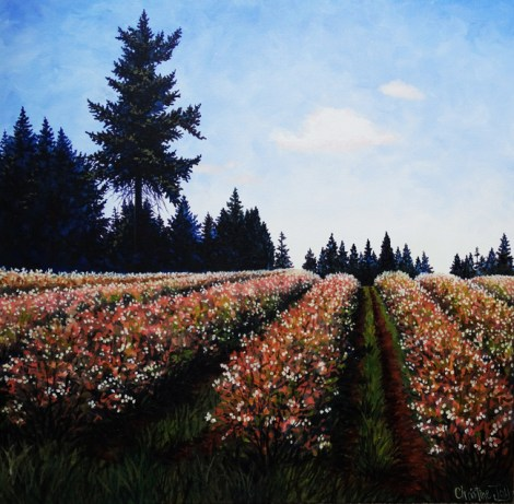 "Title:Beginning to Bloom Medium:	oil Size:	24""x24"""