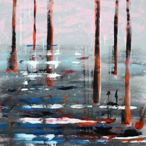 Title:No title Medium:Acrylic on canvas Size:100 x 100 cm