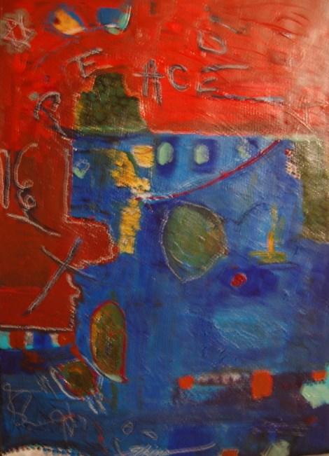 Title:Peace Medium:acrylic Size:21x16