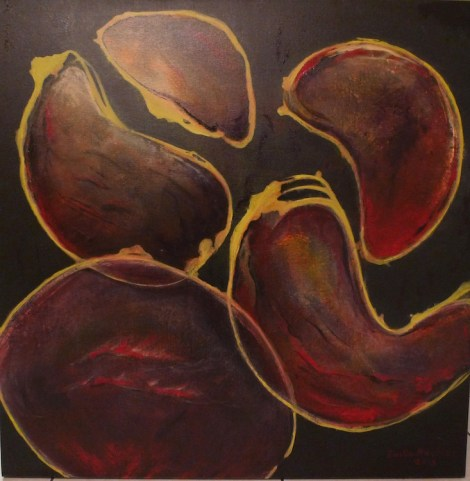 "Title:MIDNIGHT IN FLORIDA Medium:Acrylic on canvas Size:36"" x 36"""