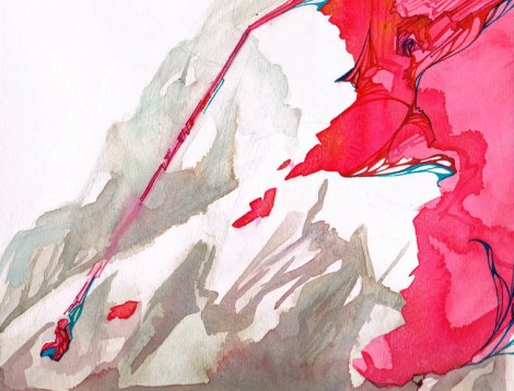 Title:Off the Edge of the World Medium:Gouache on paper Size:9 x 12 in