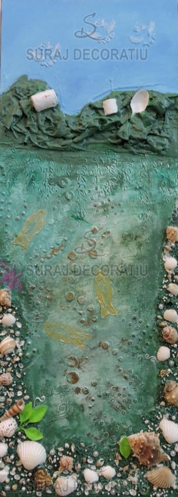 Title:Floral Glass Art Medium: Glass Size:18X1X26