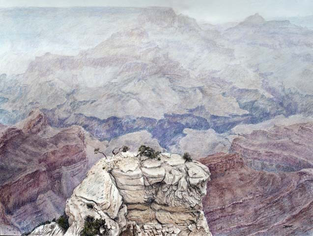 "Title: Mist of Antiquity Medium: Pastels Size: 18"" x 24"""