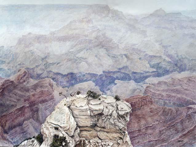 "Title:Mist of Antiquity Medium:Pastels Size:18"" x 24"""
