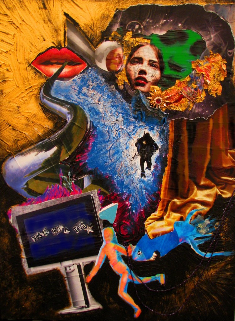 """Title This Is Not A Test Medium Mixed Media Size 25""""x28"""""""