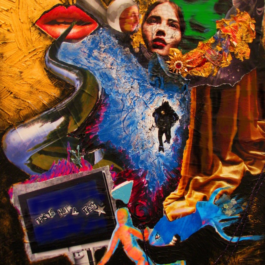 "Title This Is Not A Test Medium Mixed Media Size 25""x28"""