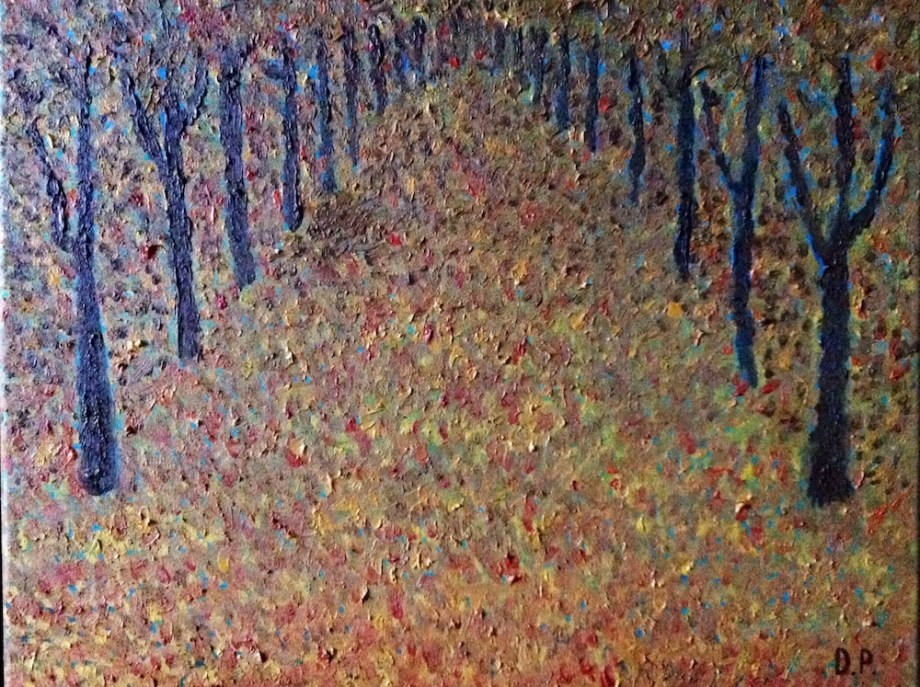 Title:Autumn Leaves Medium:	Oil on canvas Size:	40 x 50 cm