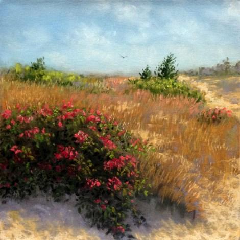 "Title:Across The Dunes Medium:Pastel Size:8""x8"""