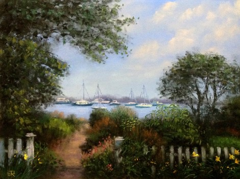 "Title:Beauty Of Martha's Vineyard Medium:	Pastel Size:	9""X12"""
