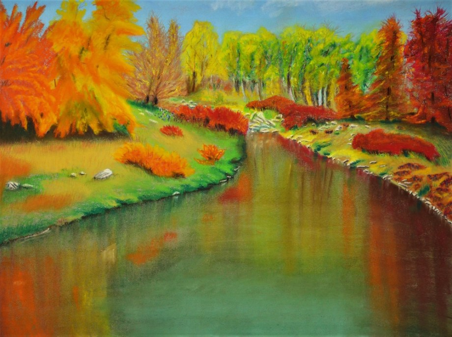 "Title FALL GLORY Medium SOFT PASTEL Size 18"" X 24"""