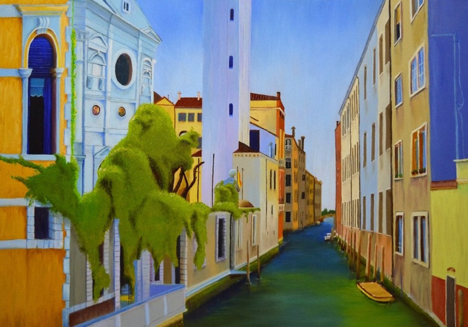 "Title VENICE Medium OIL ON GALLERY STRETCH CANVAS Size 24"" X 30"""