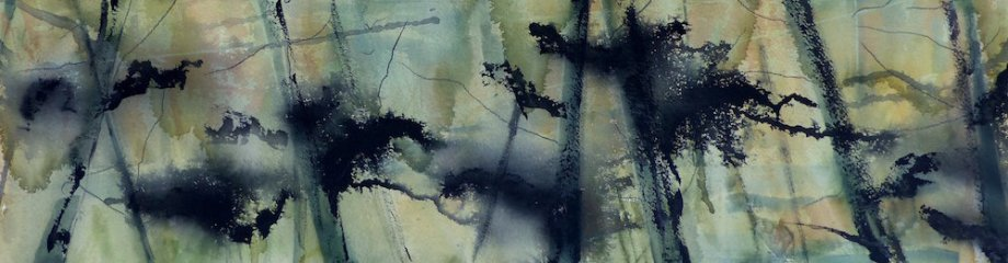 "Title:Tree Tops Medium:	watercolor Size:	8"" x 27"""