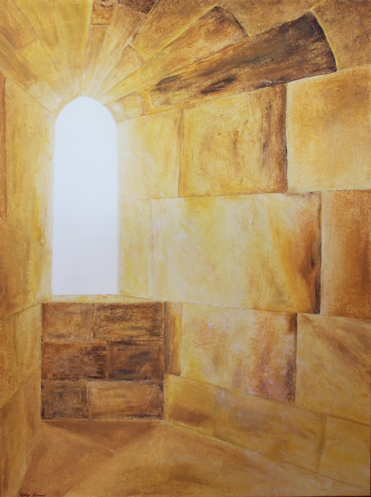 Title:See The Light Medium:	sand, acrylic, glaze Size:	36W x 48 H x 1.5D