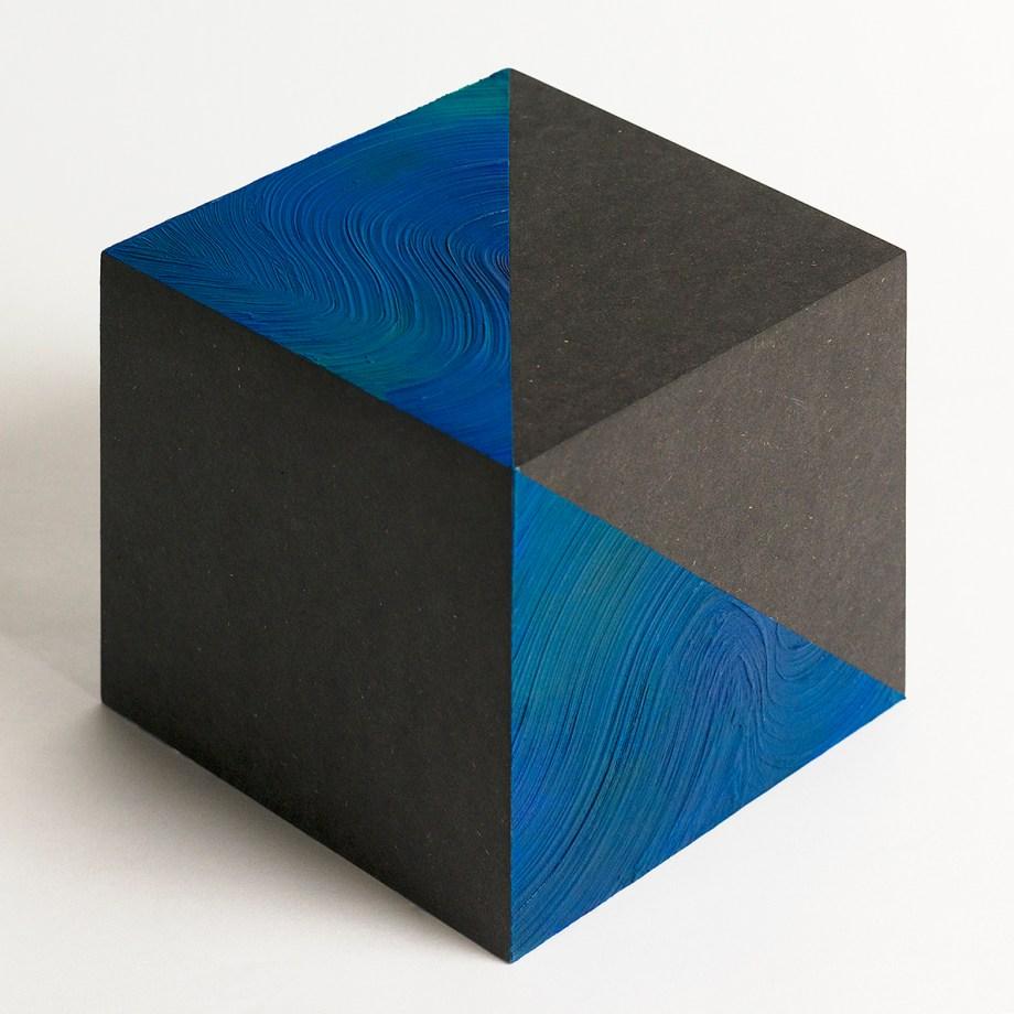 Title:Space | 空間 | No.8 Medium:Arcylic, wood cube Size:15x15cm