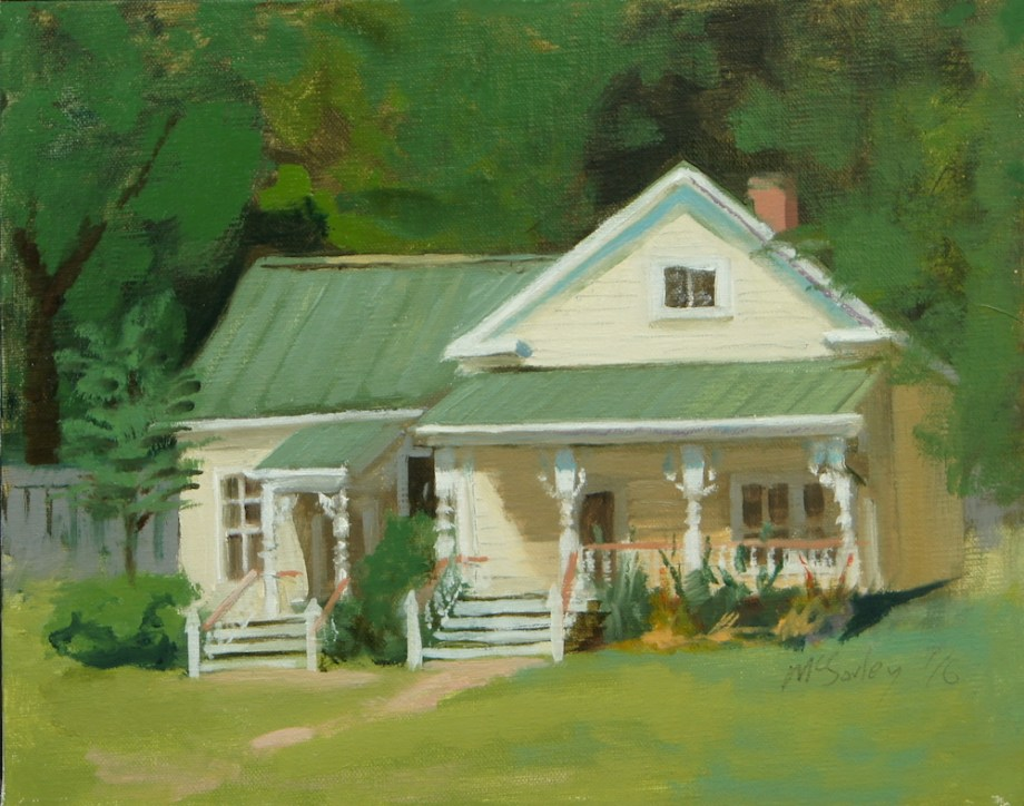 "Title:Old Forestville School Medium:	oil Size:	8"" x 10"""
