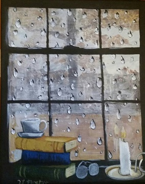 Title:Rainy day Ready Medium:	acrylic Size:	11x14