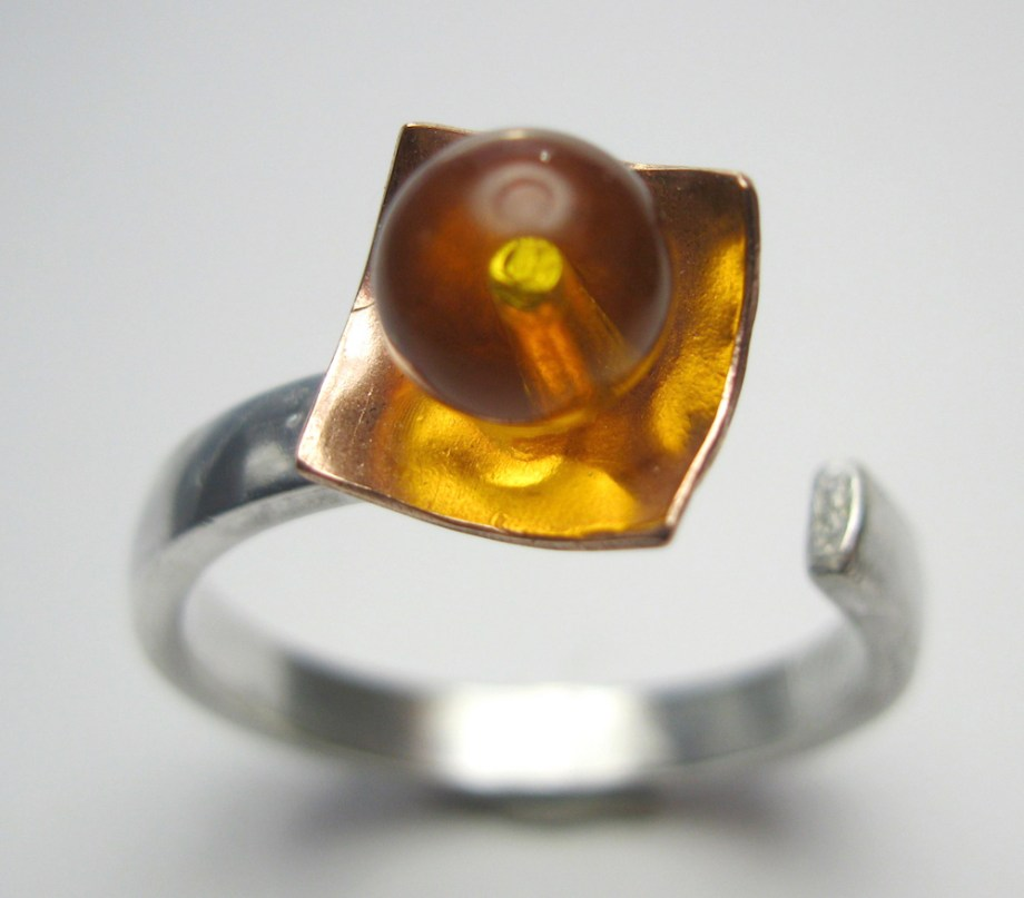 Title:All's Well Medium: Silver & Amber Size: 7.5