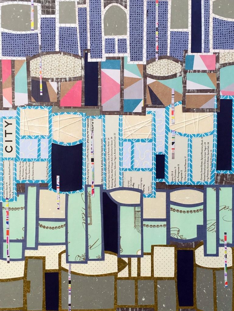 "Title:Fog City Medium:collage Size:18 x 24"""