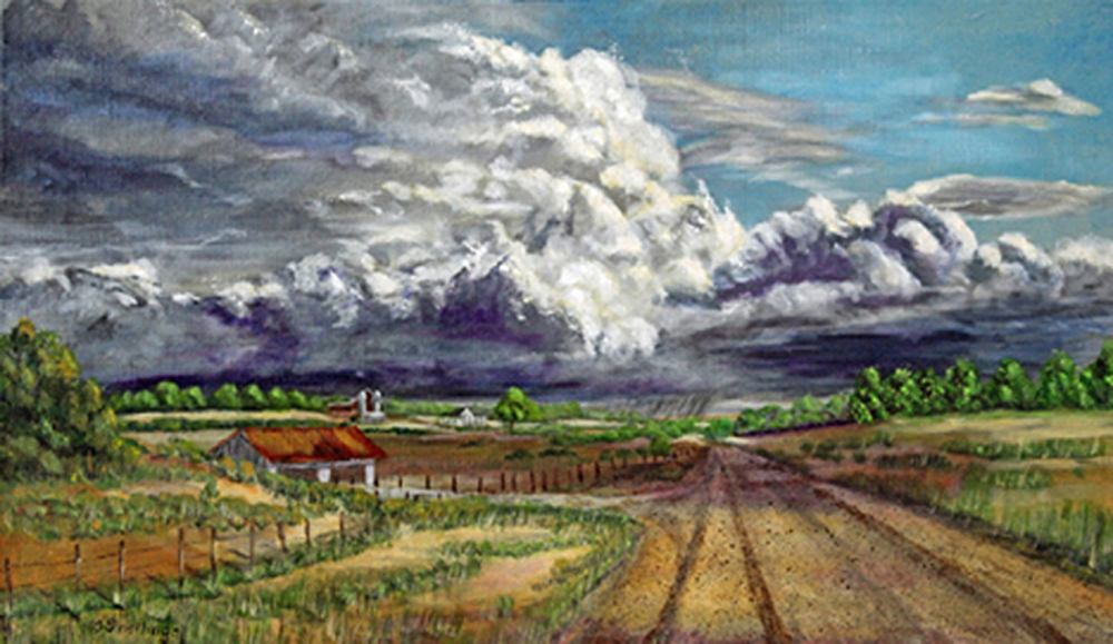 Title: Tornado Alley Medium: Acrylics Size: 18 x 30