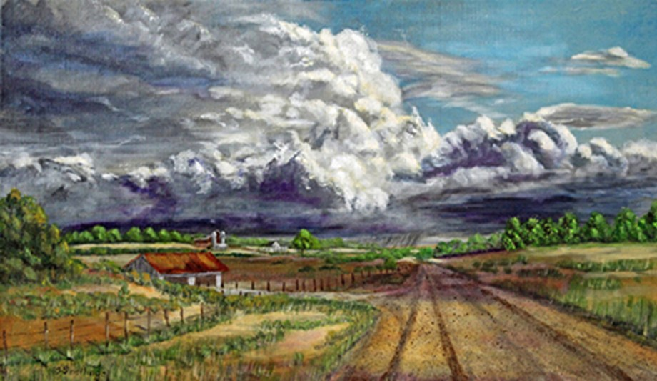 Title:Tornado Alley Medium:	Acrylics Size:	18 x 30