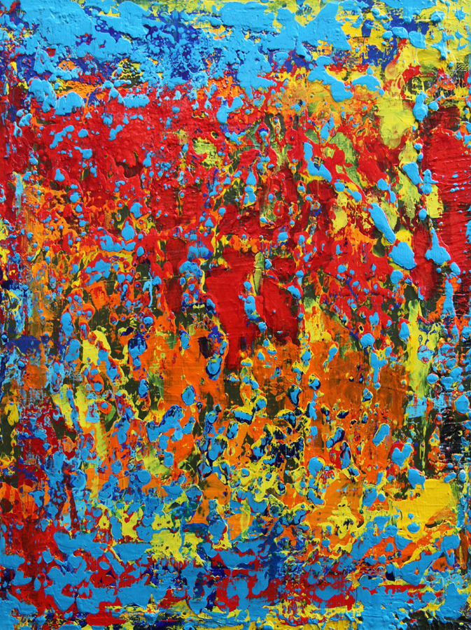 """Title:Charm of the Summer Medium:Mixed media on canvas Size:18""""x24""""x1.5"""""""