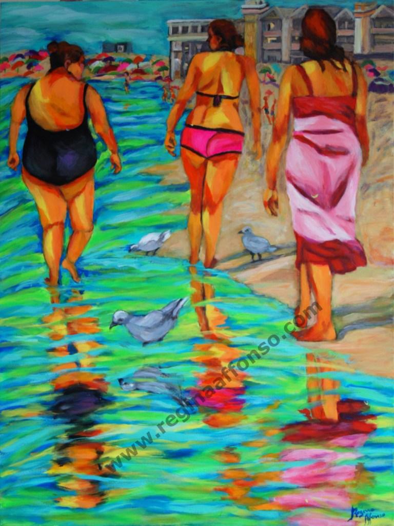 Title:Barra's beach Medium:acrylic s/ canvas Size:60X80cm