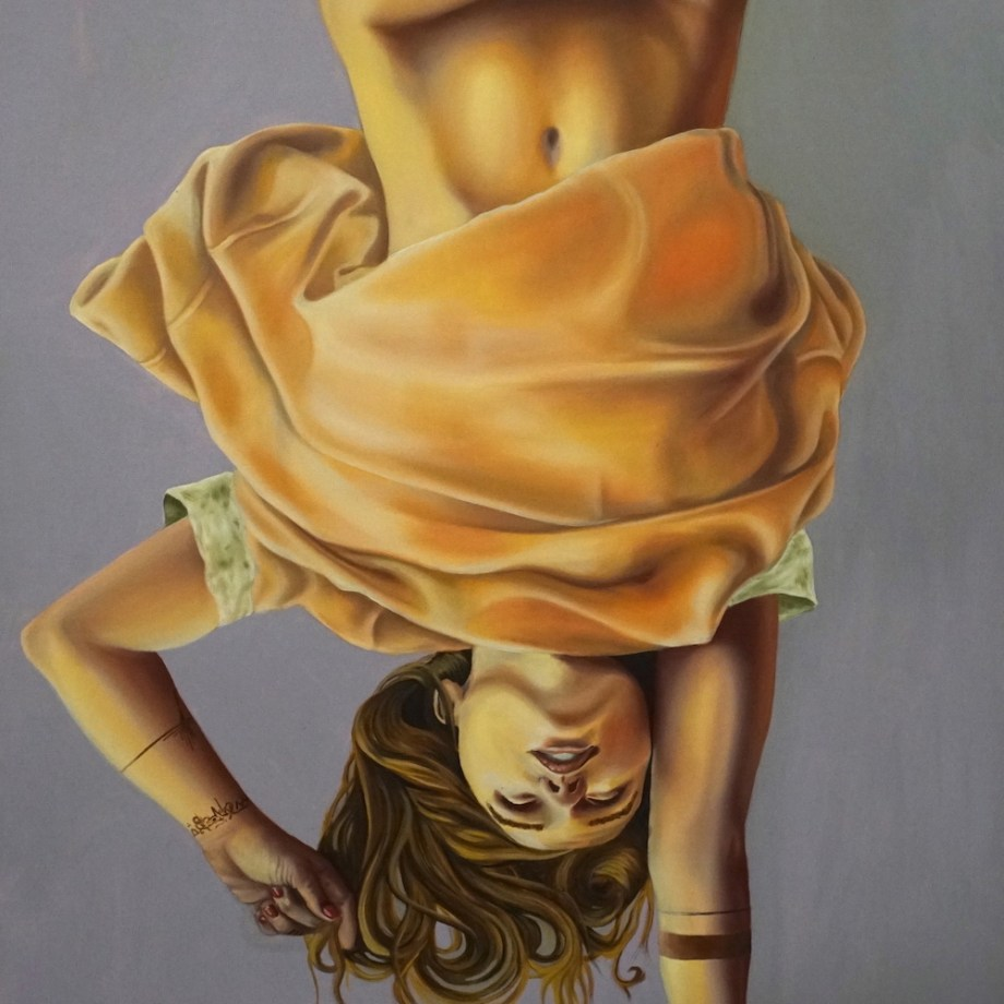 Title: Imbalance Medium: Oil on Canvas Size: 7ft x 3ft