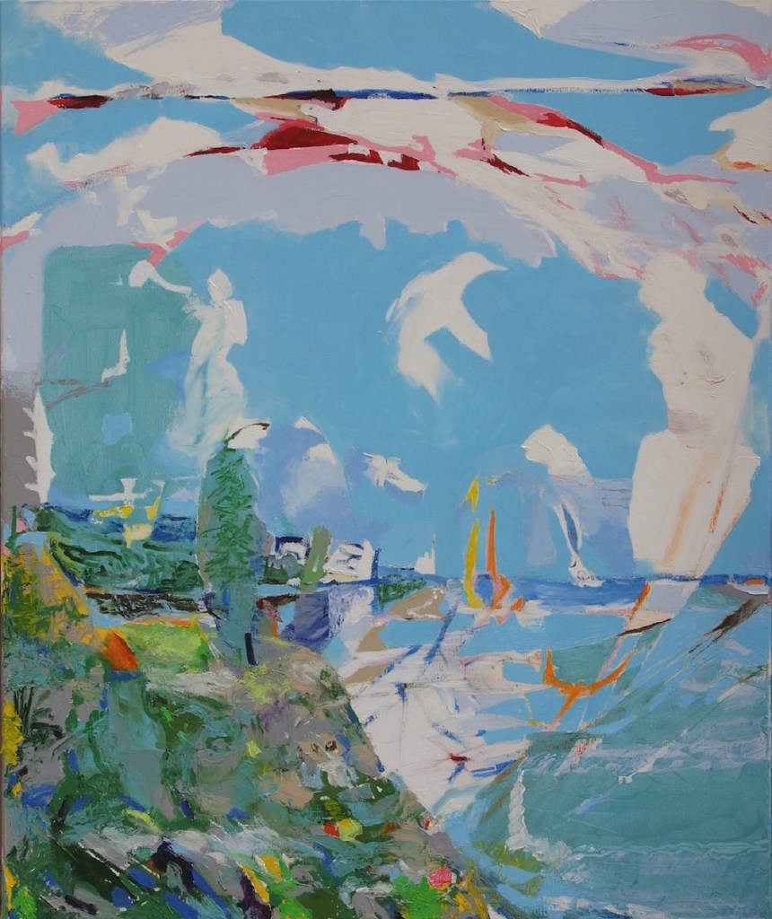 Title:Nature and History / Crete Medium:Oil on canvas Size:120 x 100 x 2 cm
