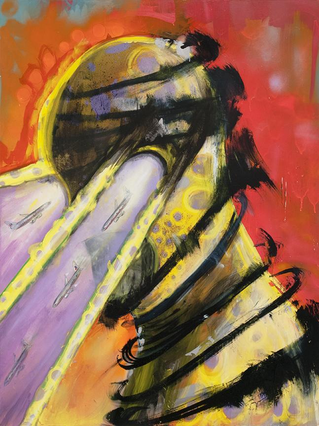 "Title: The Gazer Medium: Acrylic on Panel Size: 48"" x 36"""