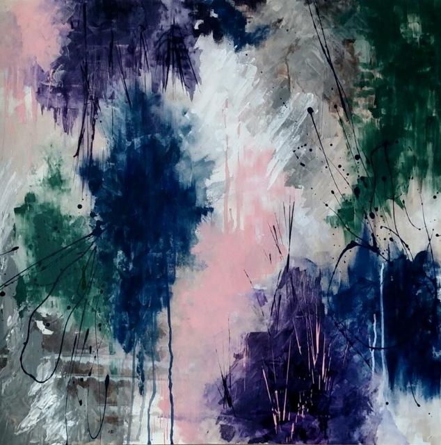 Title:Far Away Medium:Acrylic on muslin Size:30x30