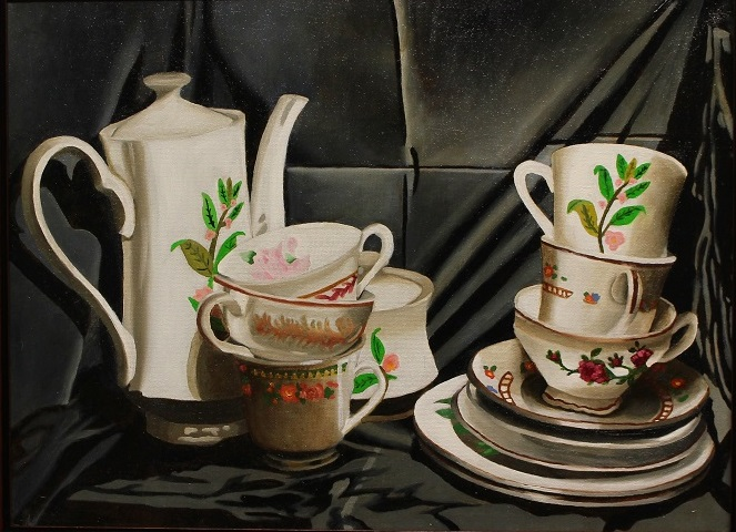 Title:The Dishes Medium:	Oil Paint Size:	12x16 inches