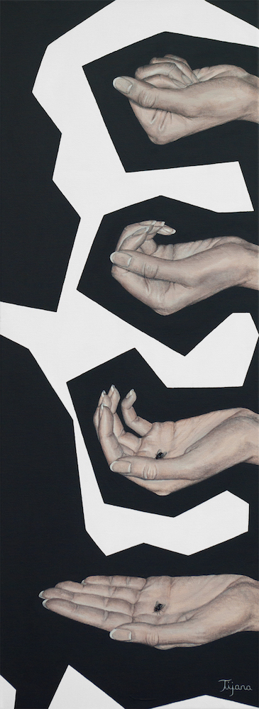 Title:Life Is in My Hands Medium:Acrylic Size:30x80 cm (12x31,5 in)