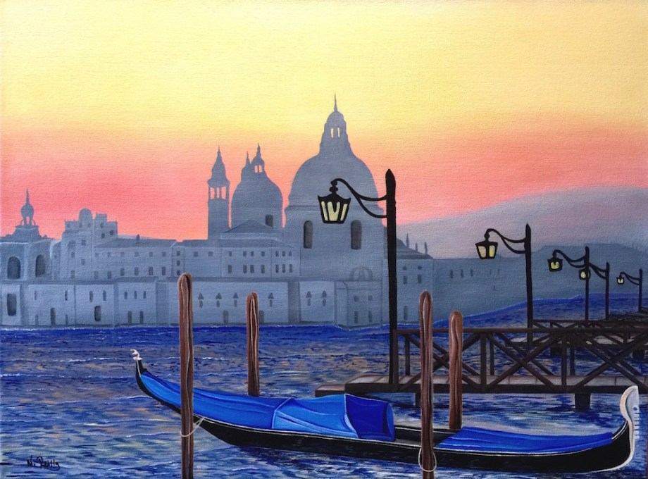 Title:View from a Venice Pier Medium:	Acrylic Size:	24x18