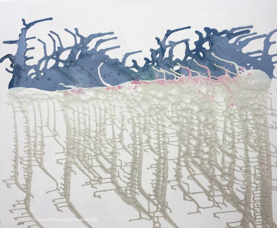 "Title:Blue Horizon Medium:acrylic Size:48""x58"""