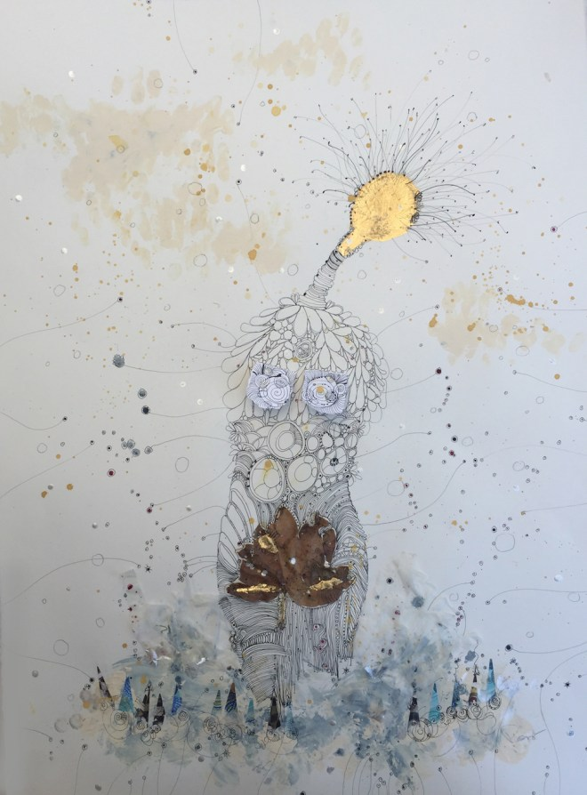 Title:The One With Water Medium:mixed media Size:30x22