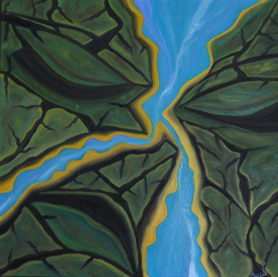 Title:Nature's Entirety - Land & Water Medium:Oil on Canvas Size:24x24x1.5