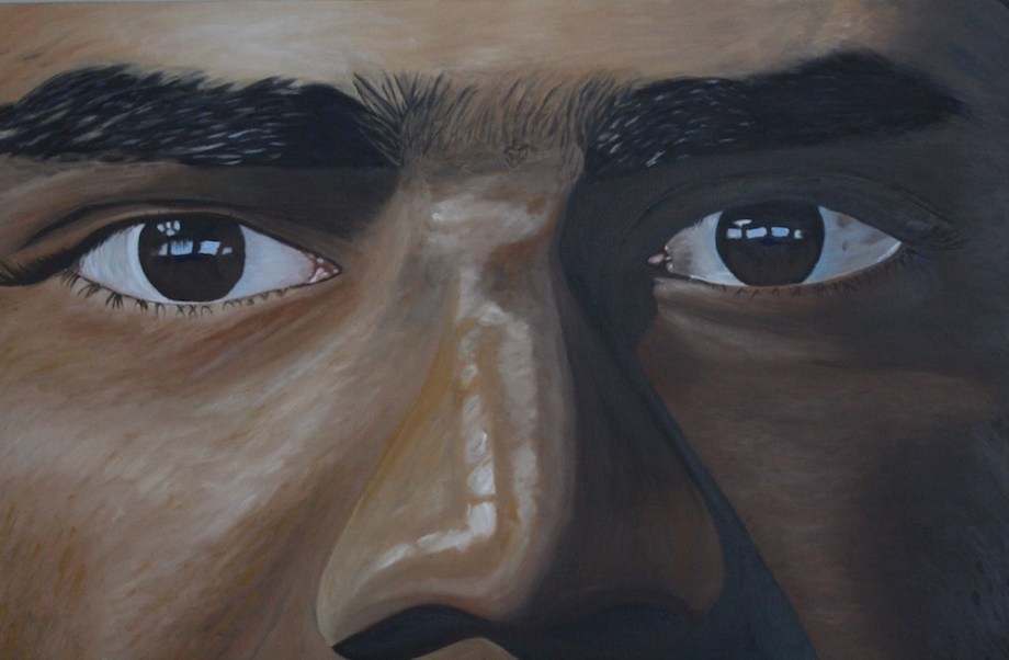 Title:The Eyes Medium:	Oil on Canvas Size:	24x36x1.0