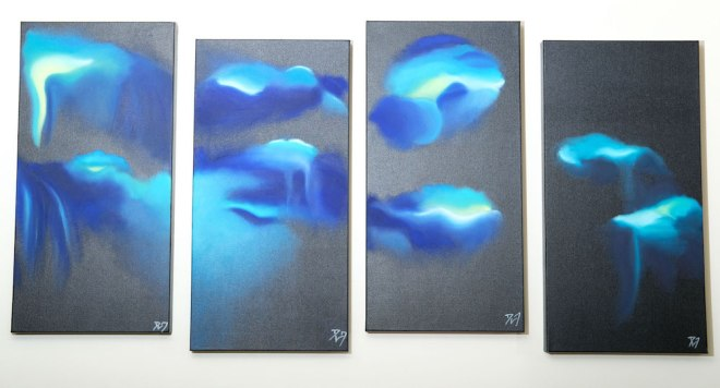 Title:The Storm Within Medium:Oil on canvas Size:4 canvases of 24 x 12 inch each