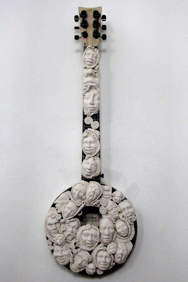 Title:With A Banjo On My Knee Medium:mixed media Size:31 x 11 x 5