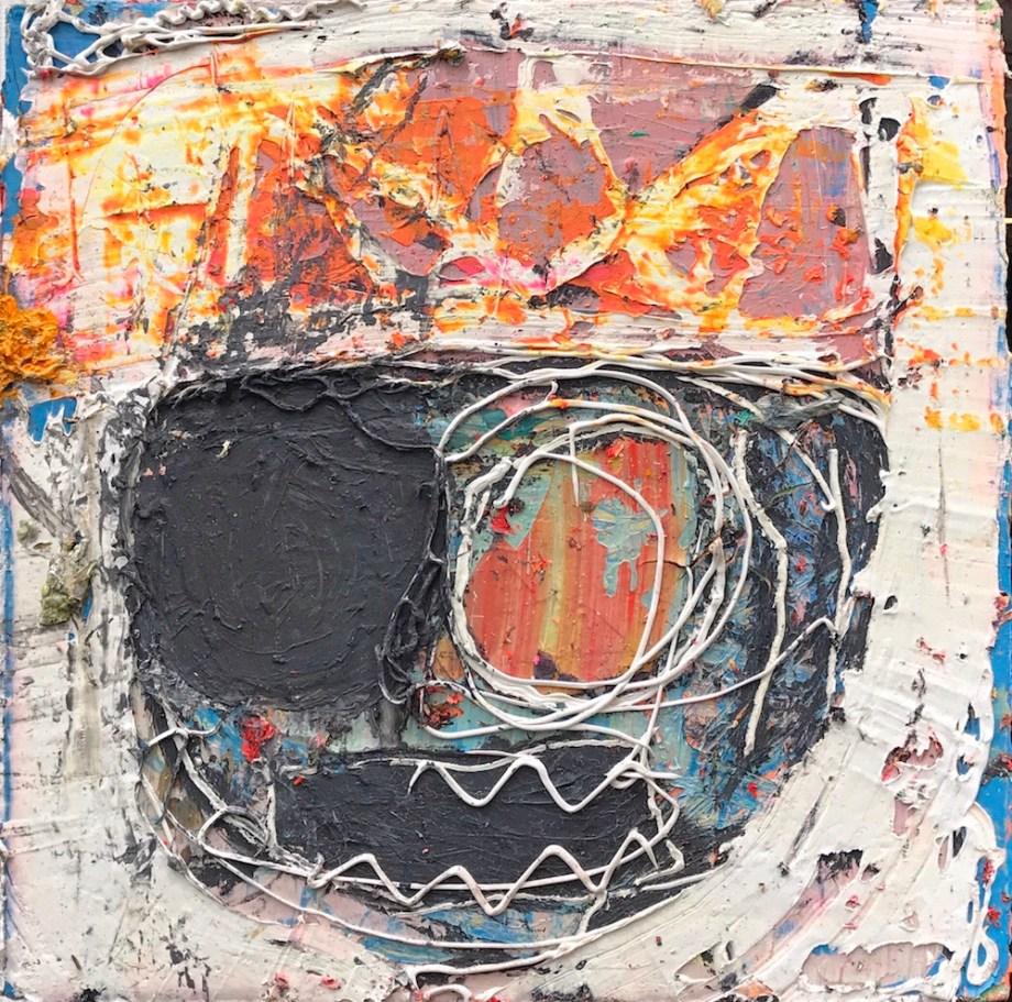 Title:RFK West Medium:Acrylic, silicone on canvas Size:20x20