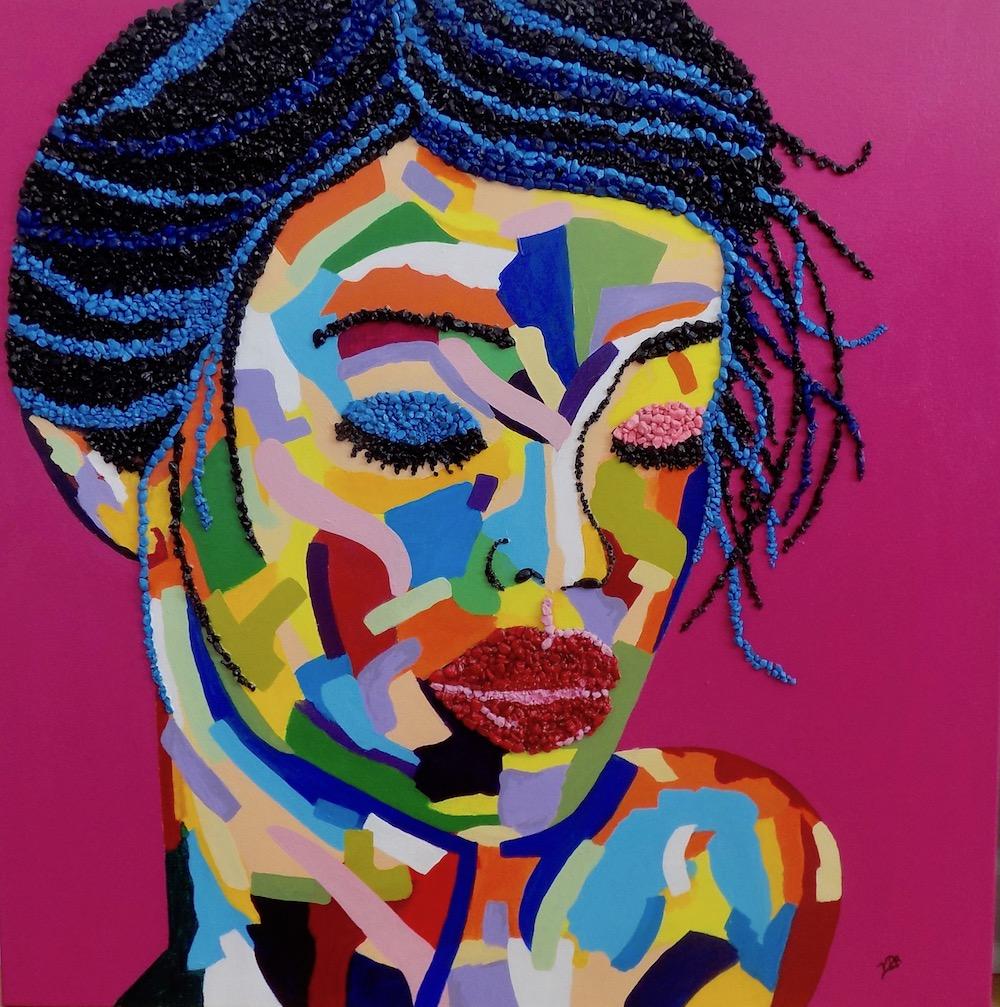 Title: Fauve I Medium: Mixed Media and Acrylic Paint on canvas Size: 30 x 30