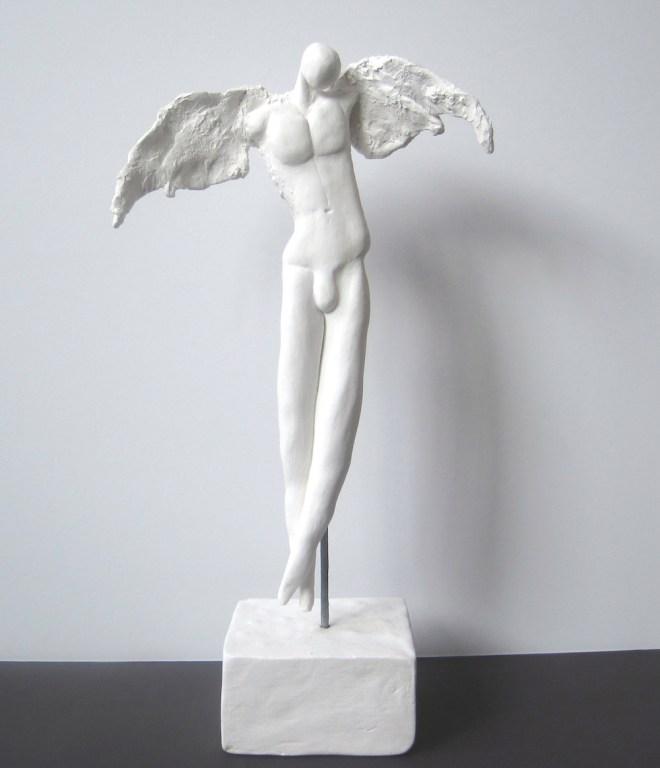 "Title:Michael Medium: clay Size:h.12""w.7"""