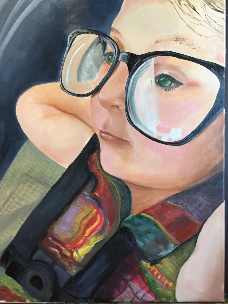 Title:Daddy's Glasses Medium:Oil on Canvas Size:18x24