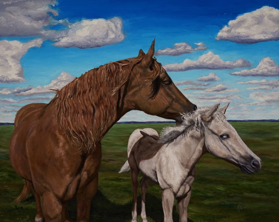 Title:A Mares touch Medium:	Oil Size:	24 x 30