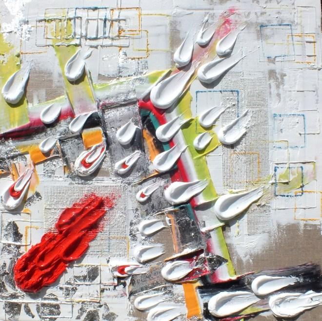 Title:Crashers - Escape Medium:silicone on linen, pure silver standard 875 Size:70 x 70 cm