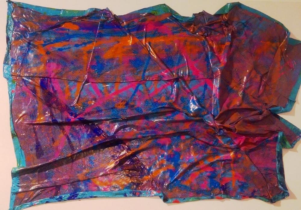 "Title: Wonderland Medium: PaletteArt - 100% Acrylc Recycled Paint on canvas Size: 24 x 36"""