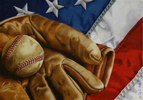 "Title:America's Pastime Medium:	Markers Size:	15"" x 11"""