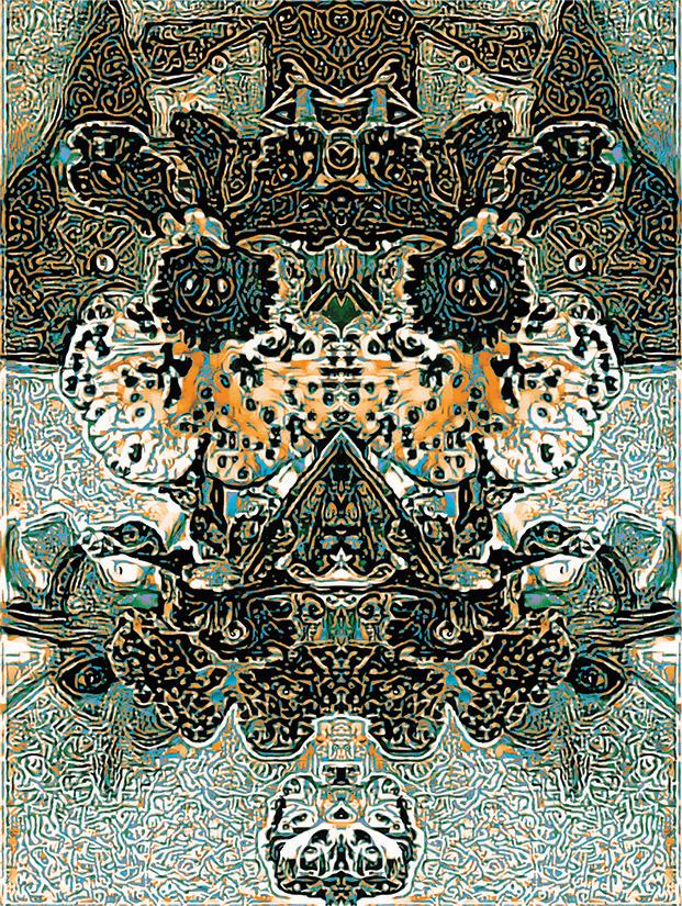 "Title:Fauna In Flora Medium:Digital Mixed Media Size:12"" x 16.5"""