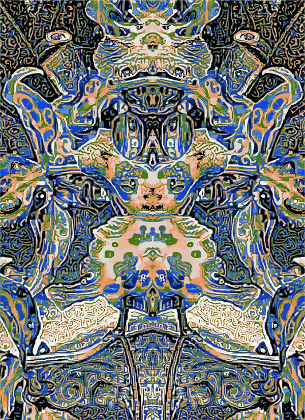"Title:Floral Life Medium:Digital Mixed Media Size:12"" x 16.5"""